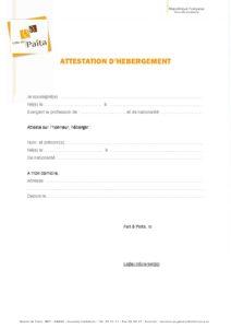 Attestation D Hebergement Site Officiel De La Ville De Paita